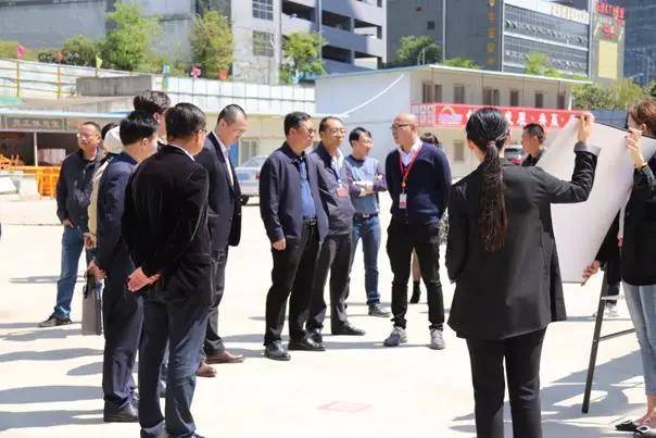 昆明经济技术开发区管理委员会领导莅临富康城控股昆明城市公司考察指导