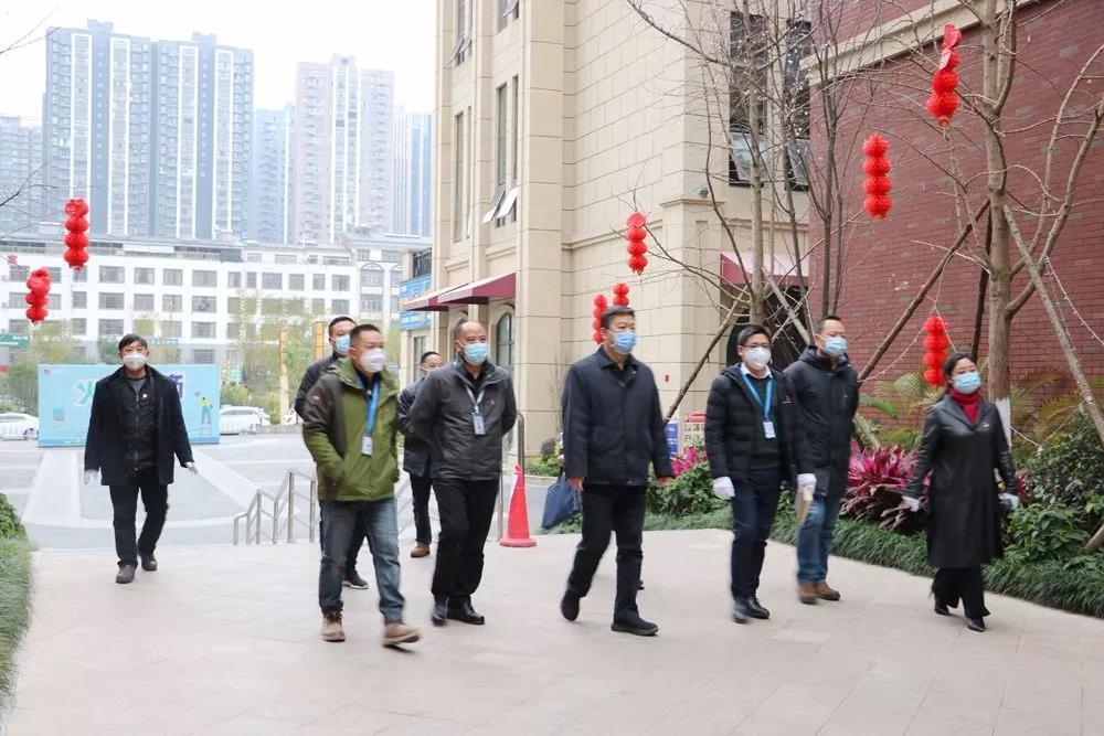 市委书记许风伦带队到bet9九州物业视察疫情防控工作